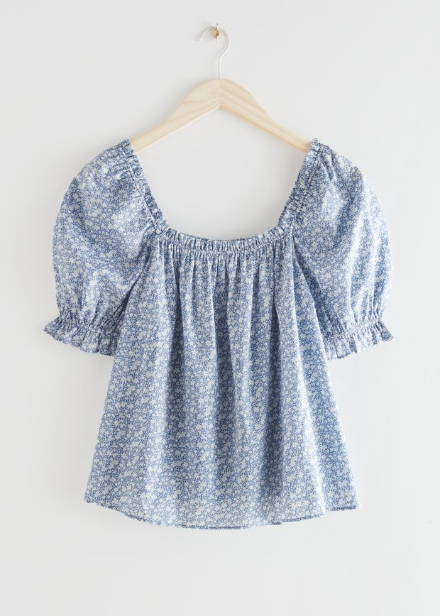 Frilled Puff Sleeve Blouse