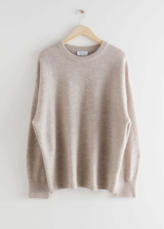 Oversized Wool Knit Jumper