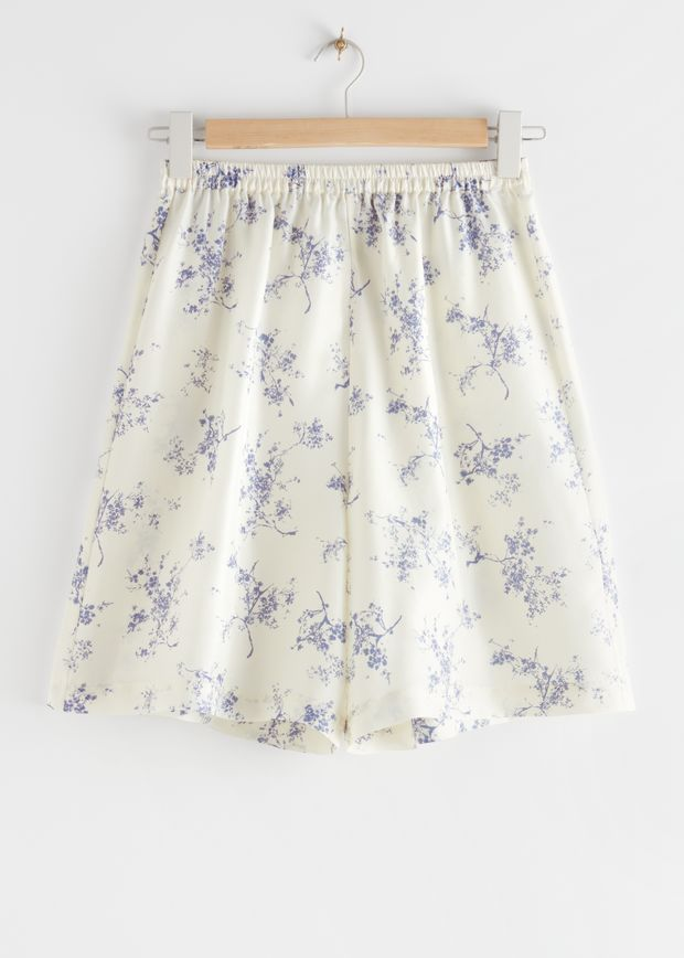 Relaxed Silk Shorts