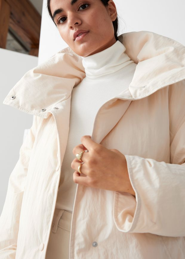 Oversized Boxy Long Puffer Jacket