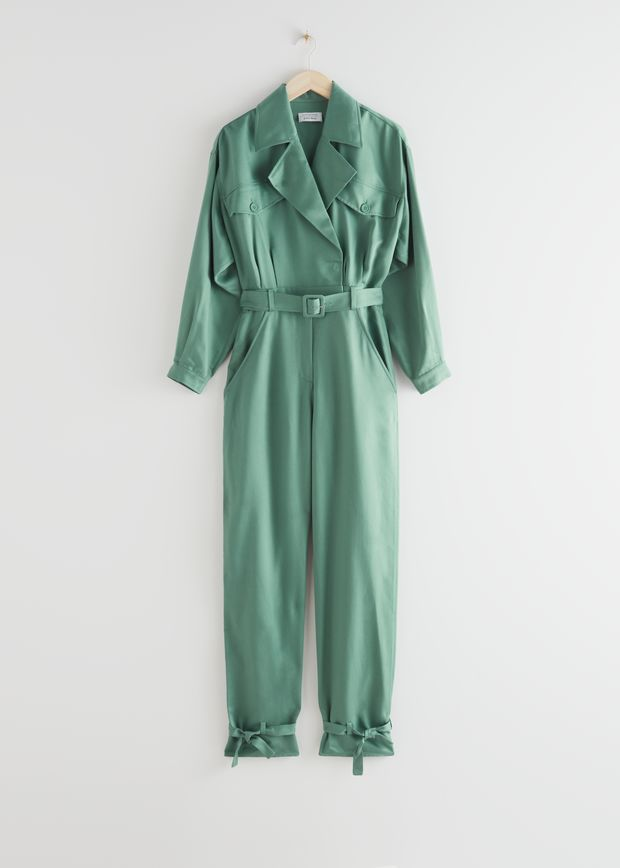 Belted Oversized Jumpsuit