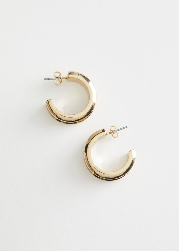 Chunky Open Back Hoop Earrings
