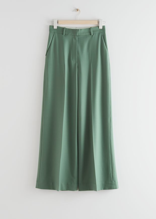 Wide High Waist Trousers