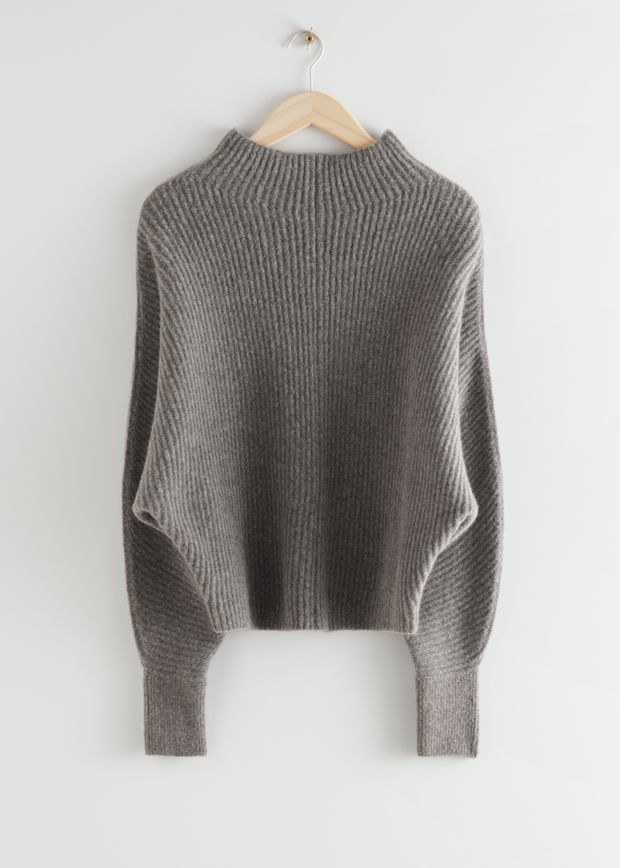 Voluminous Turtleneck Knit Jumper