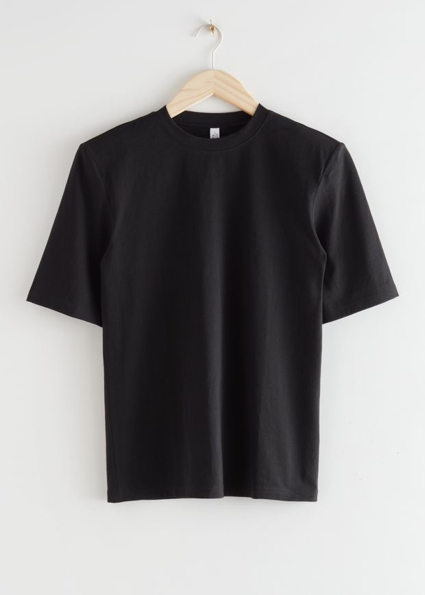 Relaxed Padded Shoulder T-Shirt