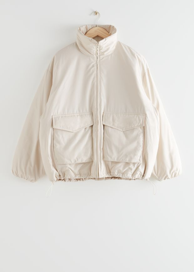 Boxy Padded High Collar Jacket