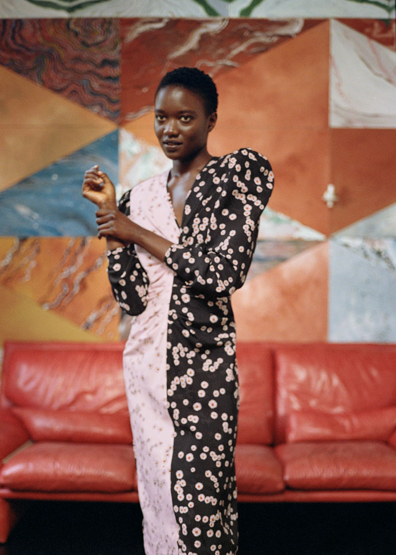 Brogger - silk midi dress