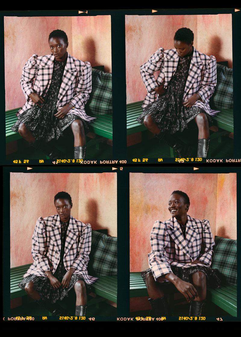 Brogger - silk midi dress and blazer