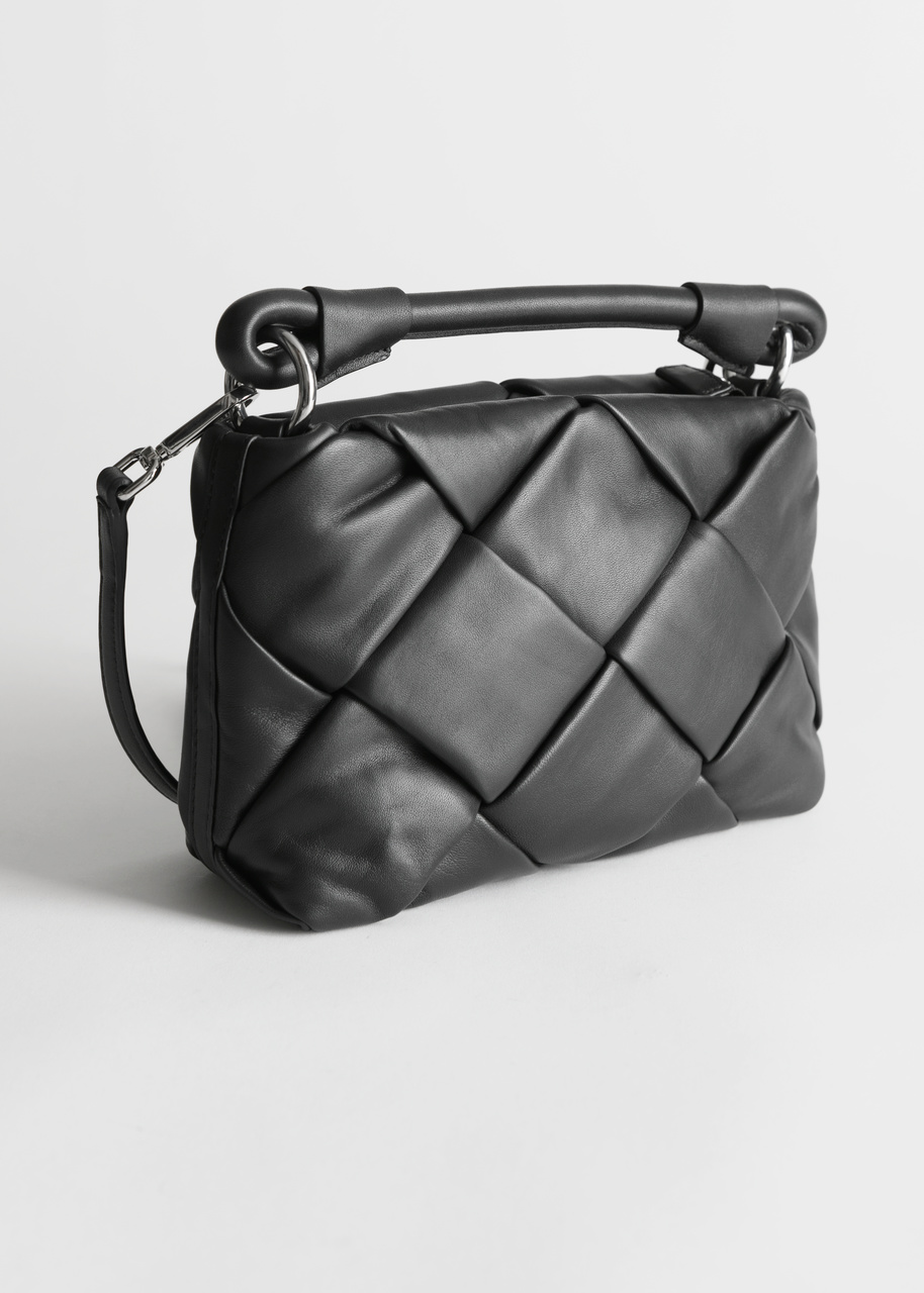 Padded Leather Crossbody Bag