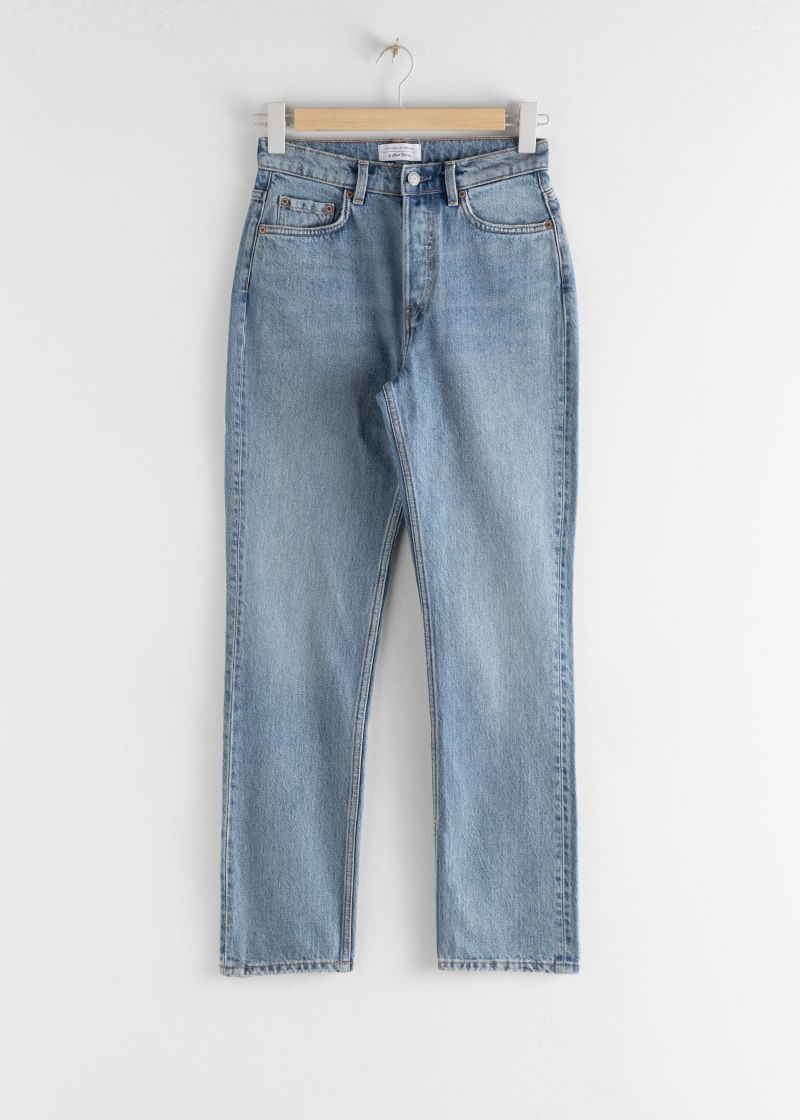 Straight High Rise Jeans