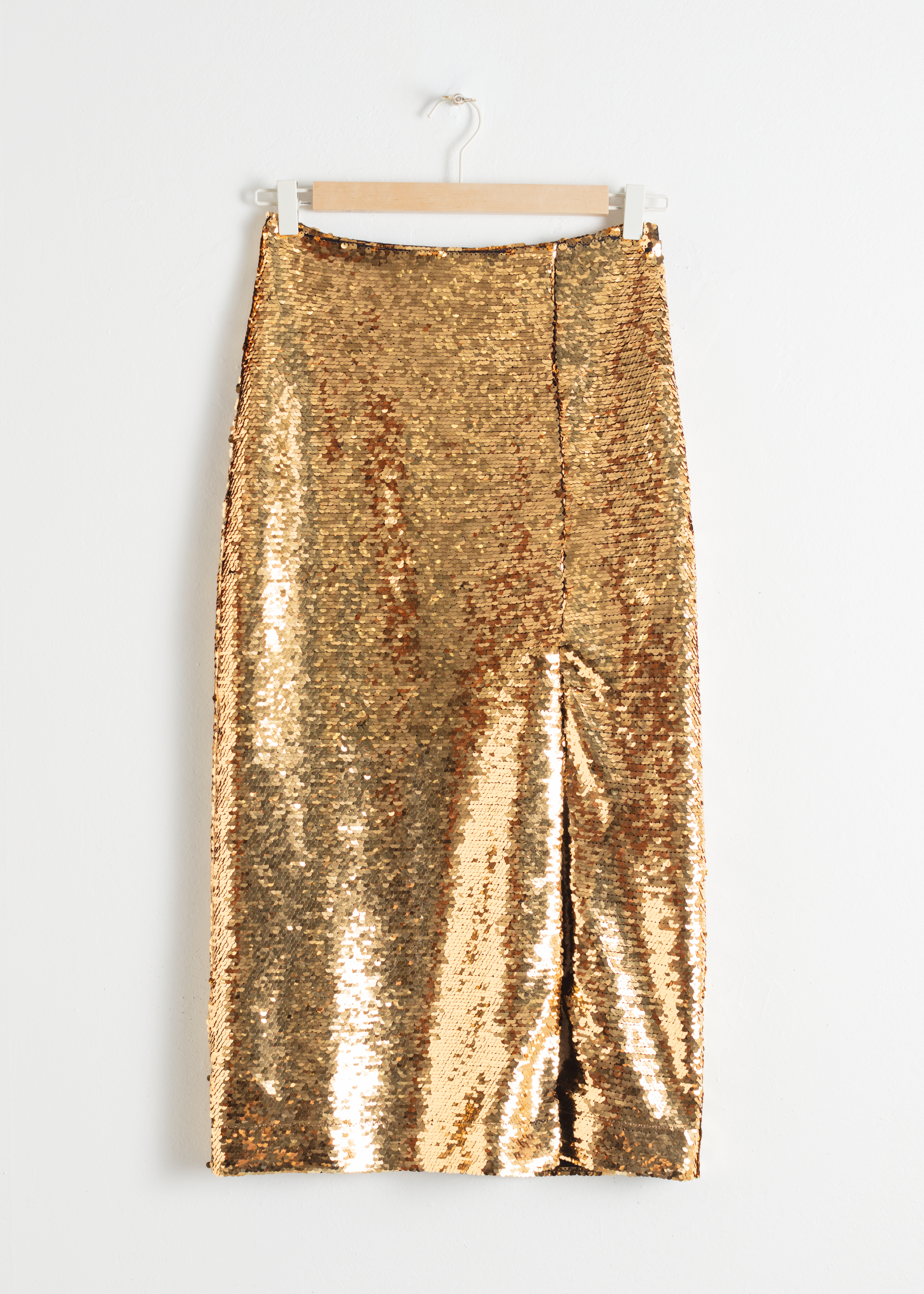 Sequin Midi Pencil Skirt