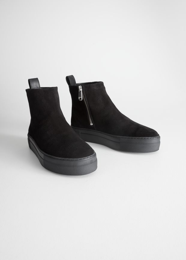 Suede Snow Boots