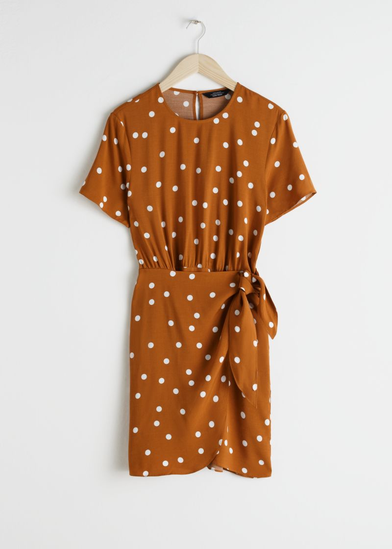 Tie Up Mini Wrap Dress