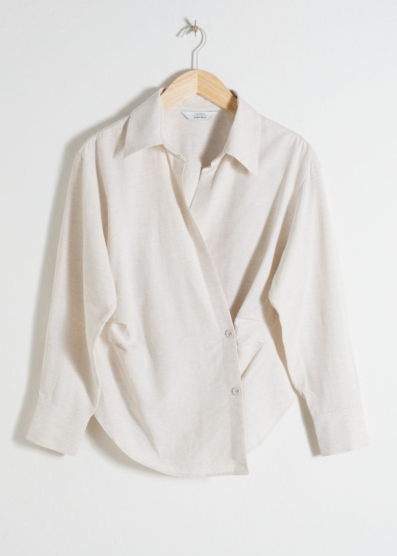 Wrap Duo Button Shirt