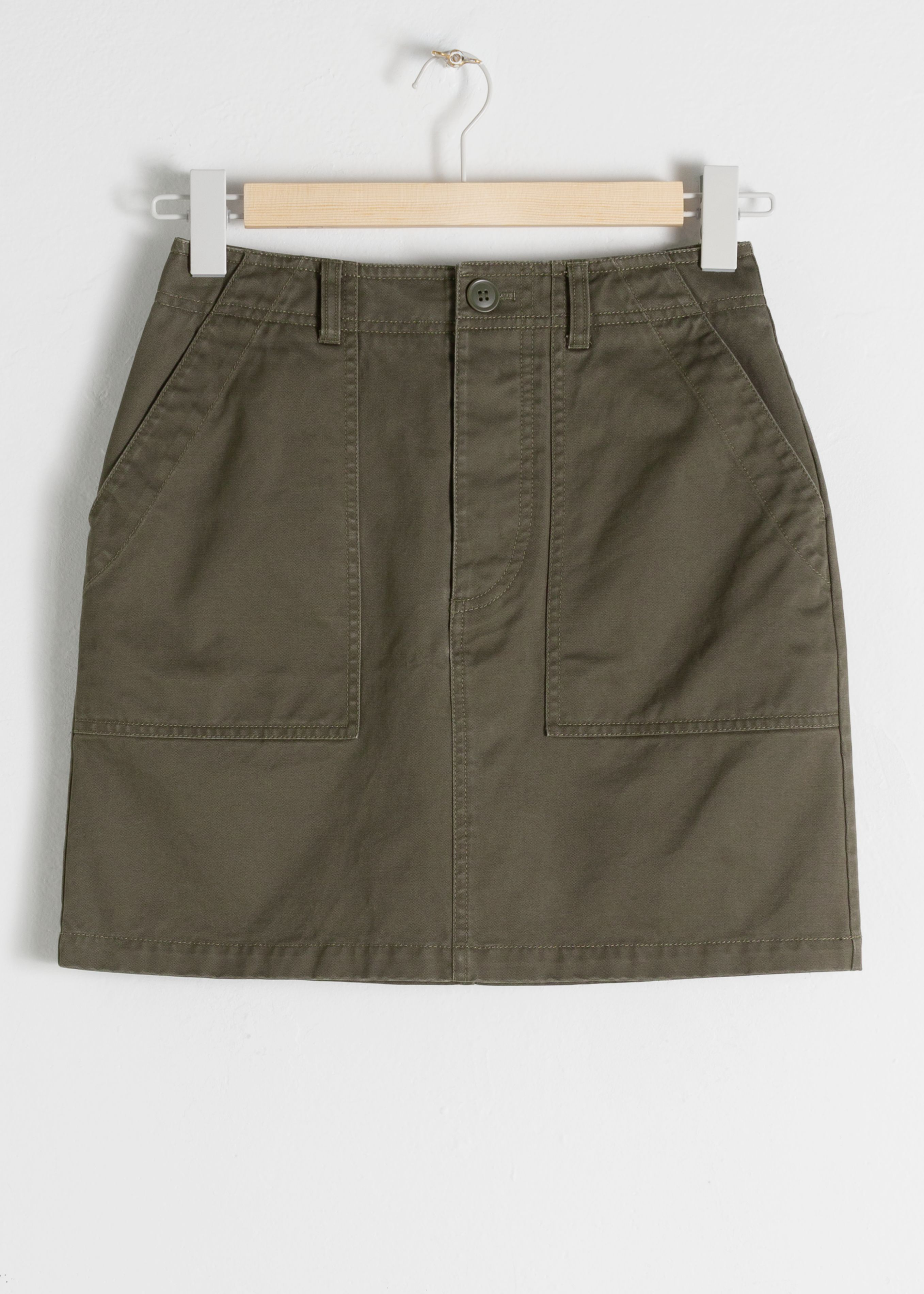 Cotton Workwear Mini Skirt