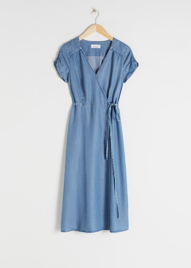Lyocell Denim Wrap Dress