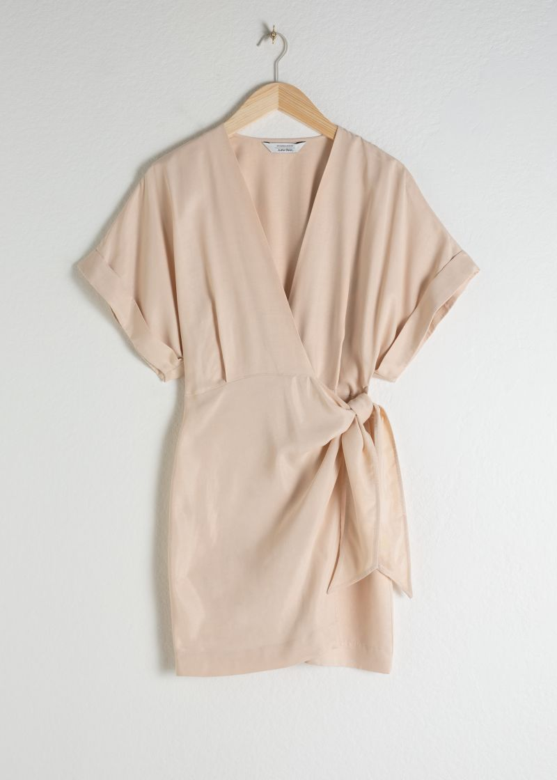 Relaxed Wrap Mini Dress