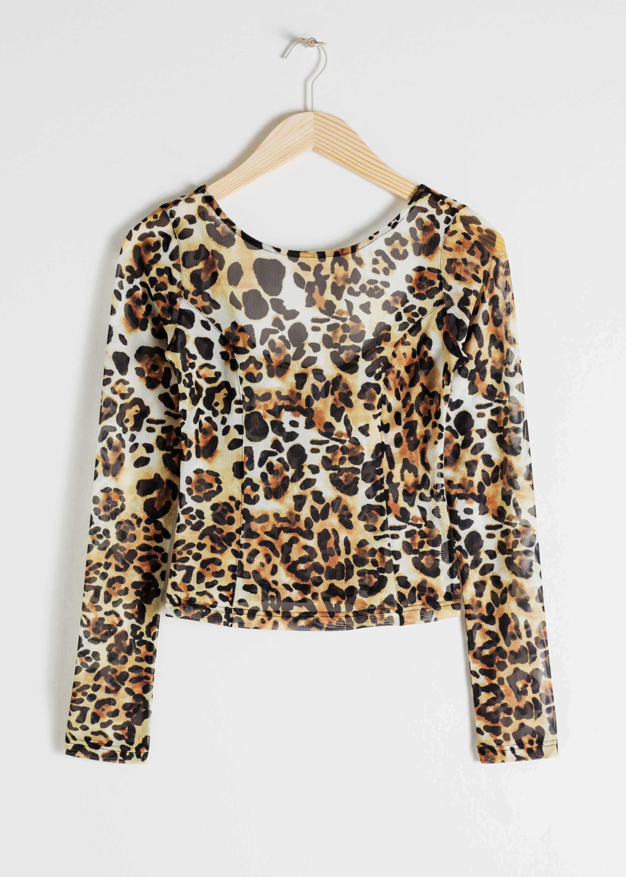 Jaguar Printed Mesh Top