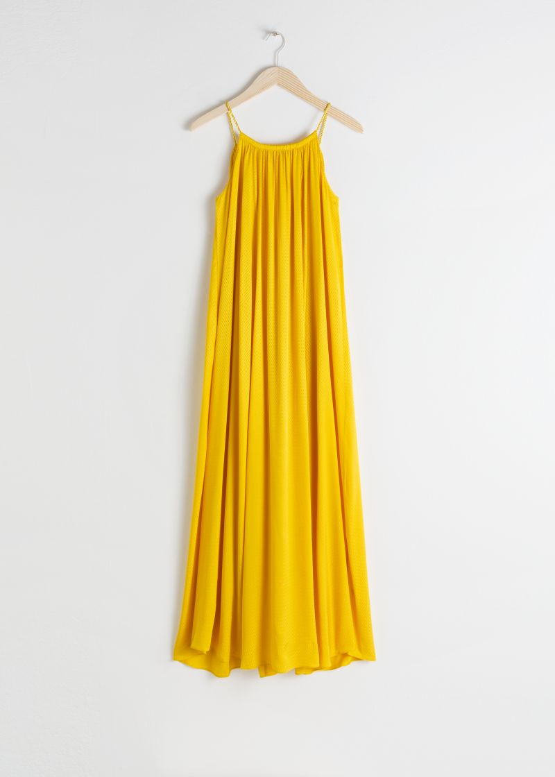 Rope Strap A-Line Maxi Dress