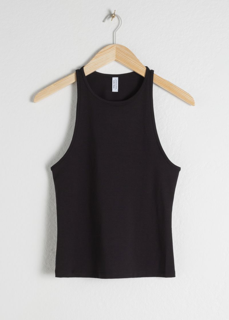 Cotton Blend Racer Back Tank