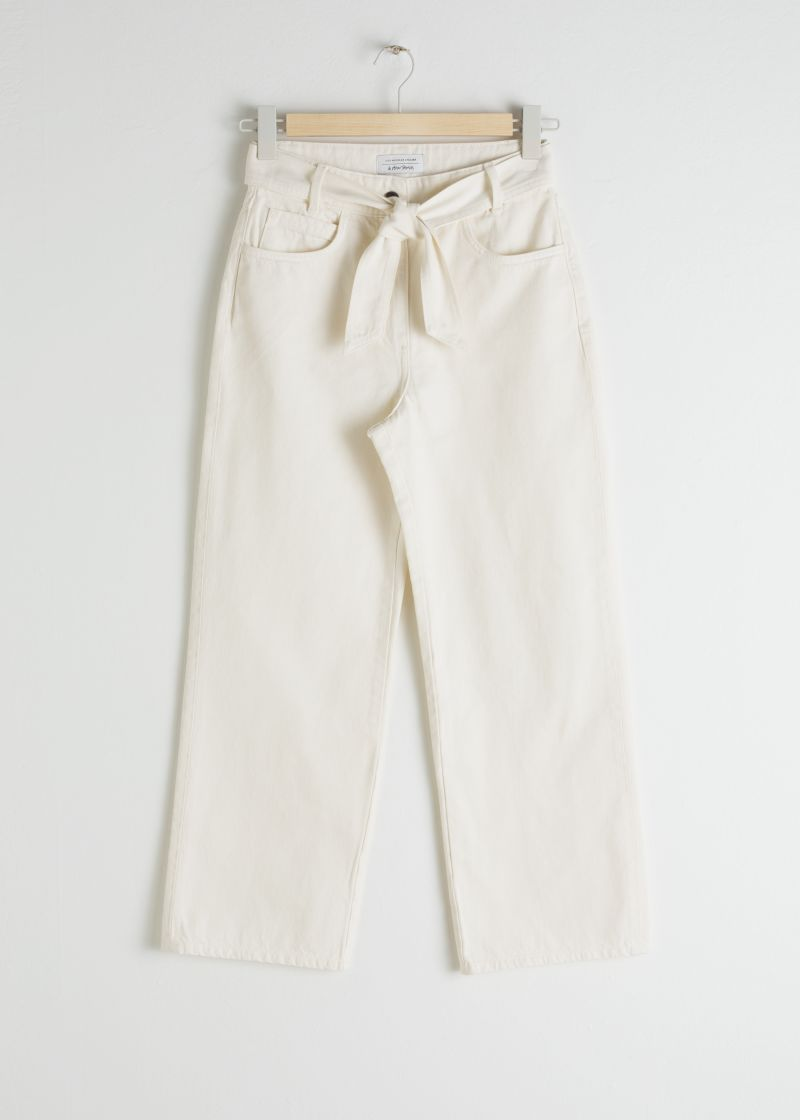 Cropped High Rise Flare Jeans
