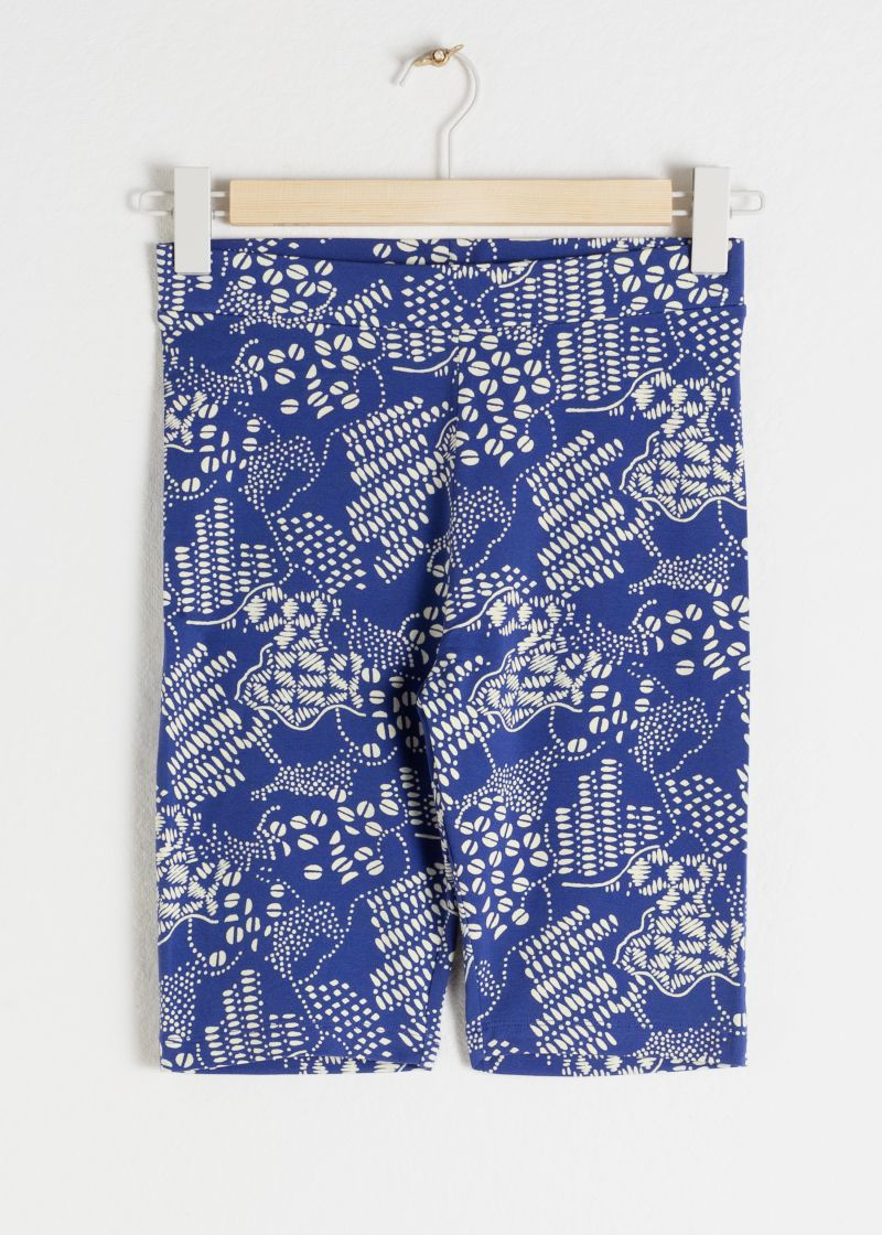 Coffee Bean Printed Cycling Shorts
