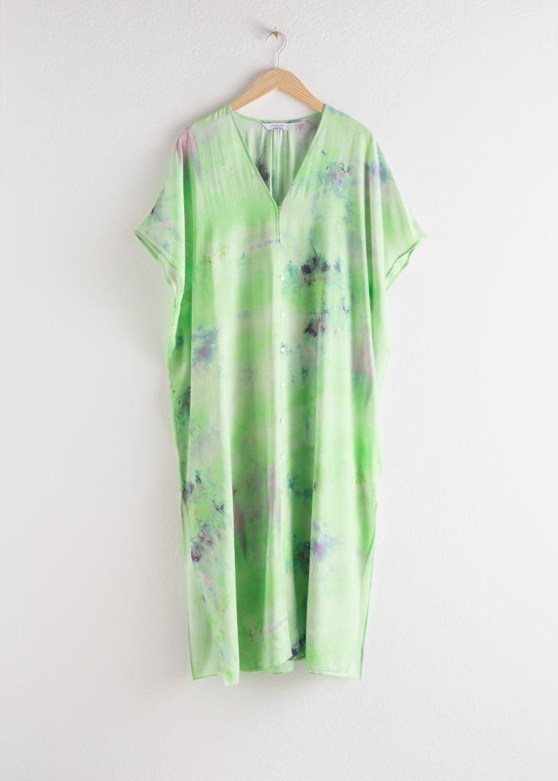 Lyocell Blend Tie Dye Kaftan Dress