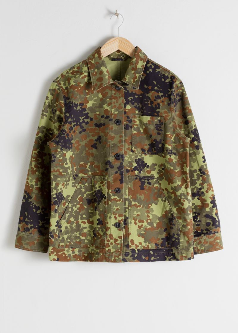 Camouflage Cotton Workwear Jacket