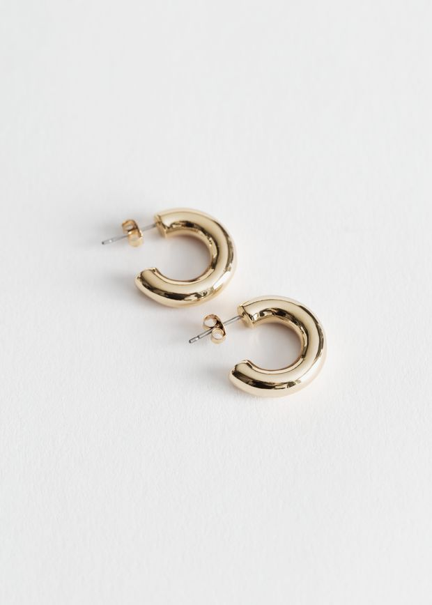Thick Mini Hoop Earrings