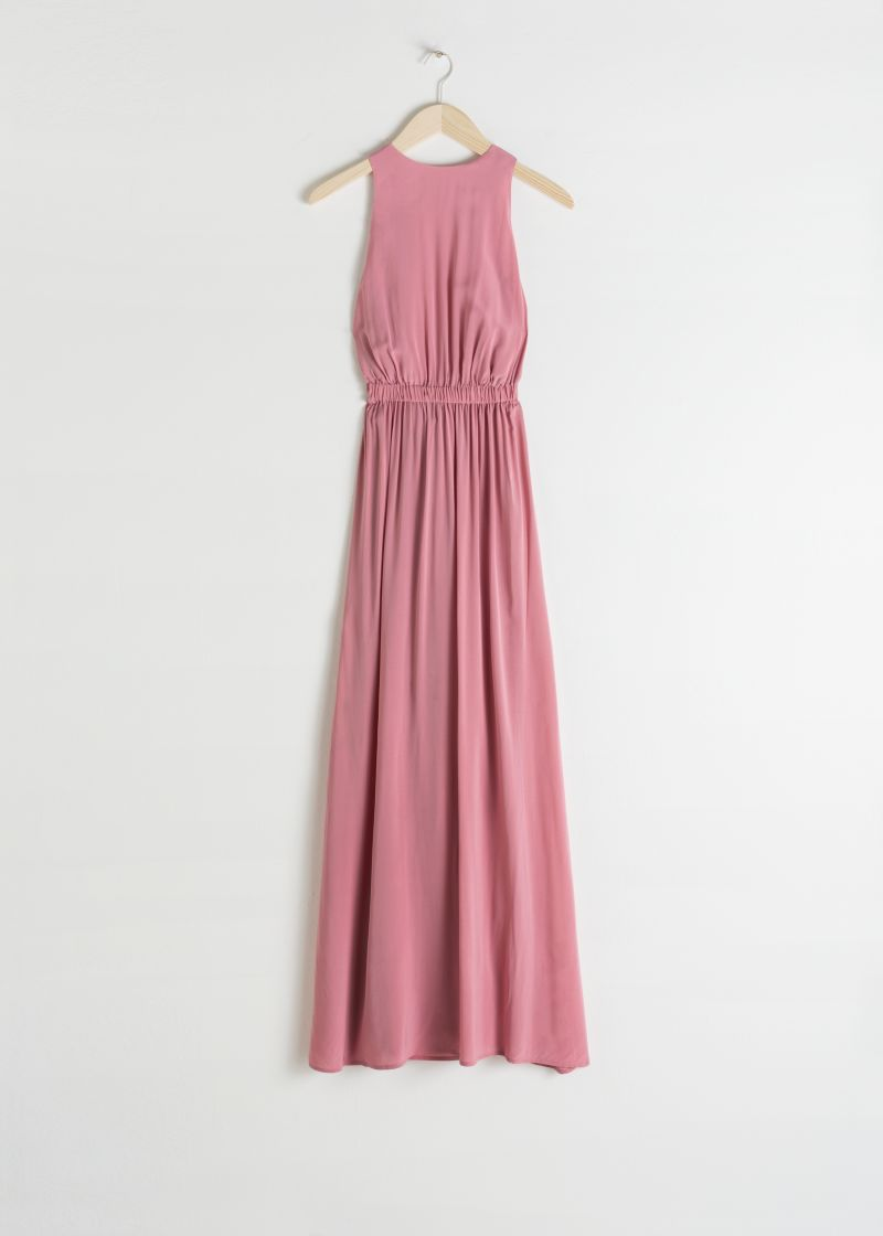 Semi Sheer Maxi Dress
