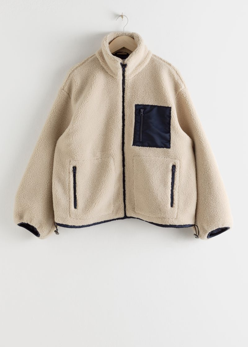 Relaxed Utility Fleece Jacket