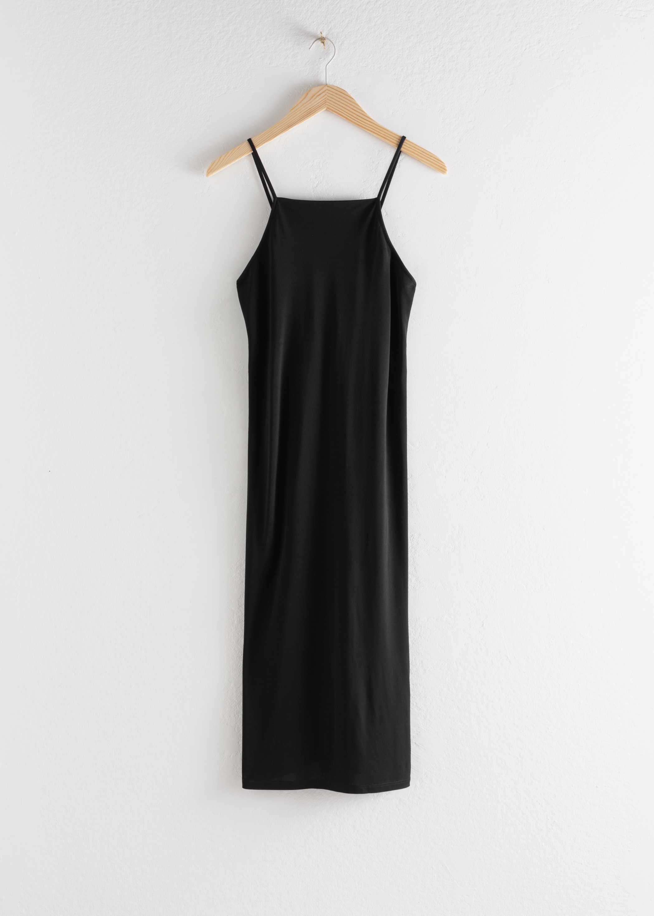Square Neck Midi Slip Dress