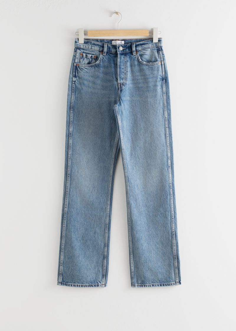 Straight Mid Rise Organic Cotton Jeans