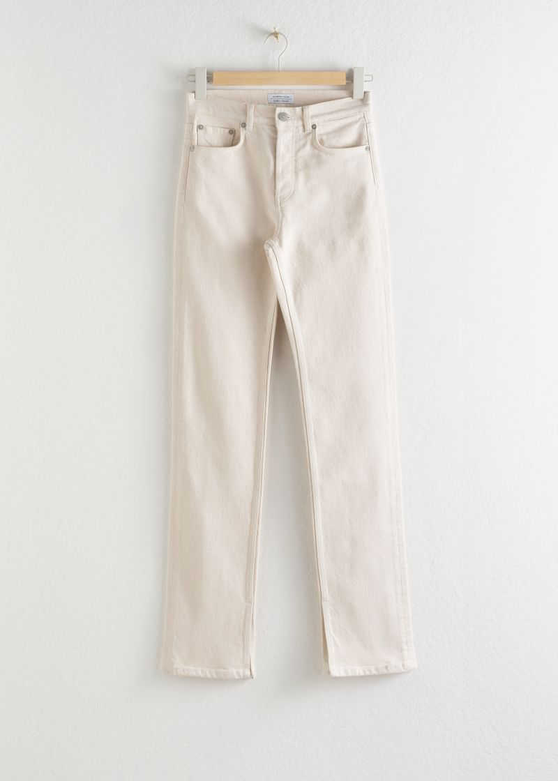 Ankle Split Stretch Jeans