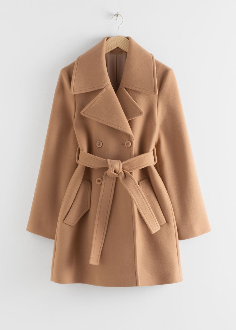 Double Breasted Belted Coat