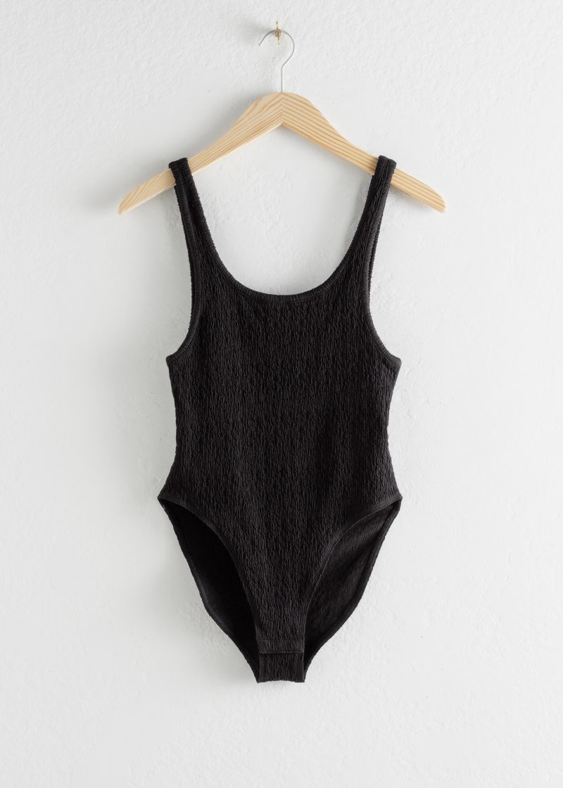 Cotton Blend Crepe Bodysuit
