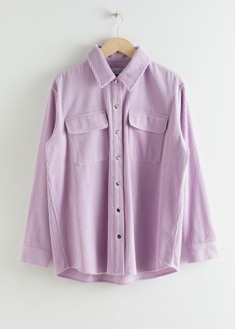 Corduroy Snap Button Overshirt
