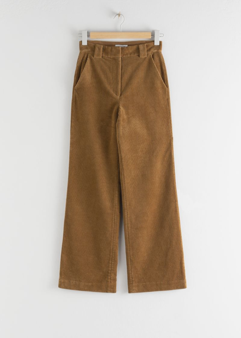 Corduroy Flared Trousers