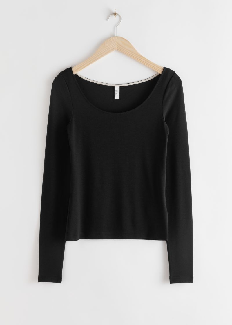 Scoop Neck Lyocell Stretch Top