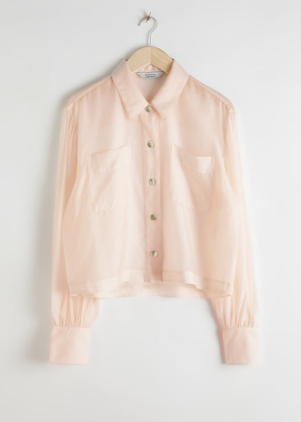 Flowy Puff Sleeve Button Up Shirt