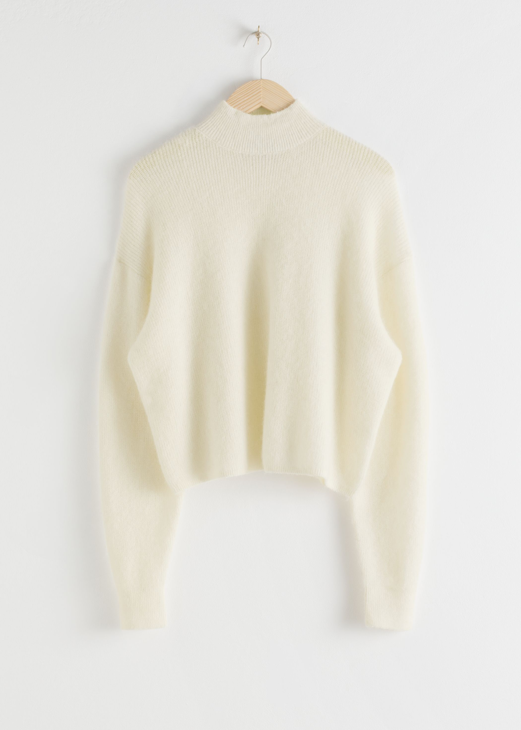 Wool Blend Oversized Mock Neck Sweater