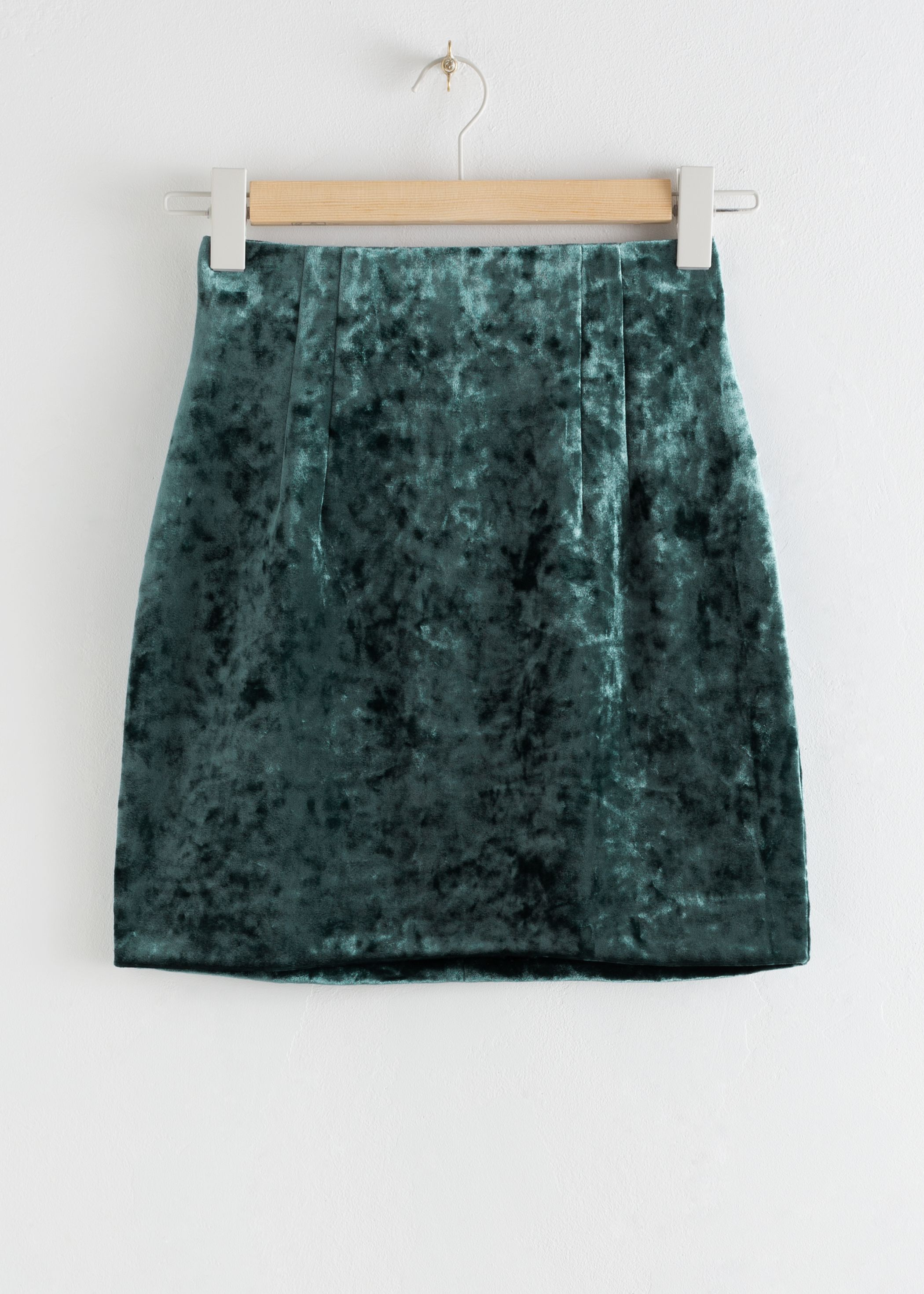 Fitted Velour Mini Skirt