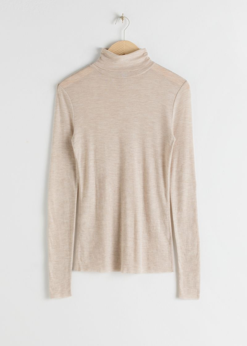Fitted Wool Turtleneck