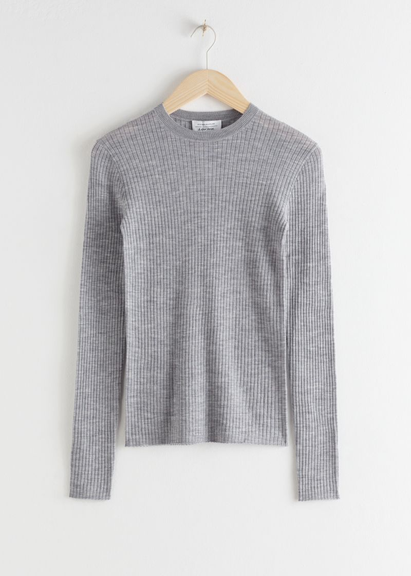 Fitted Wool Knitted Top