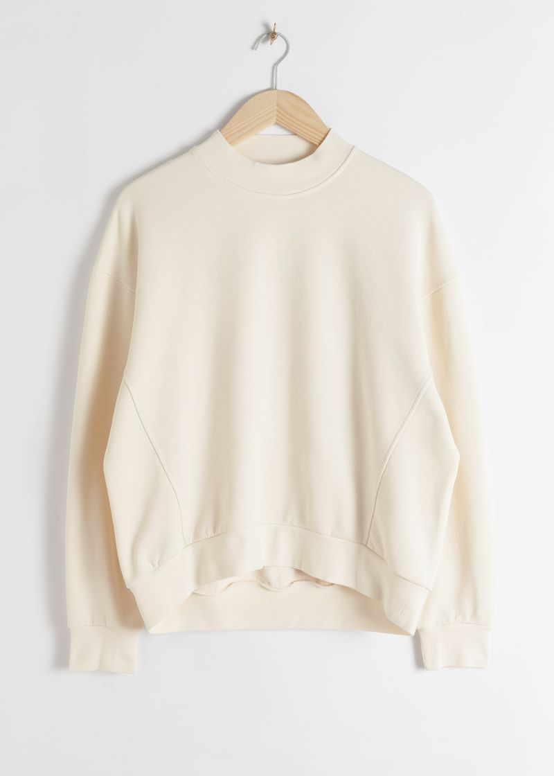 Organic Cotton Mock Neck Sweater