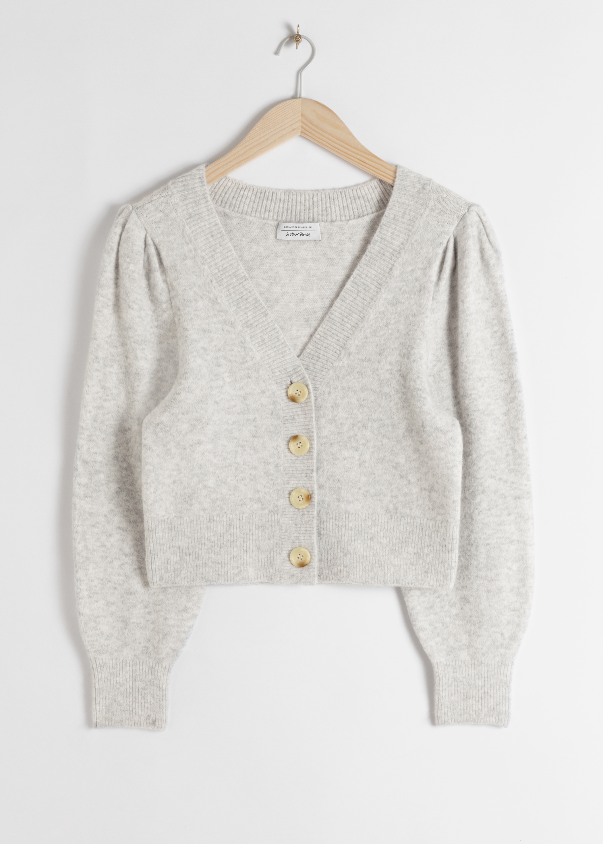 Puff Sleeve Short Cardigan