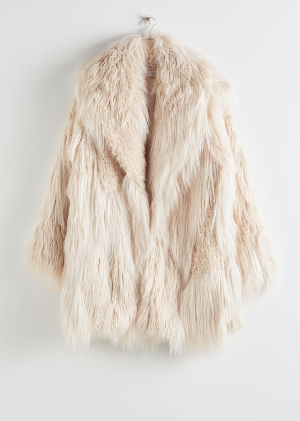 Oversized Shaggy Faux Fur Coat