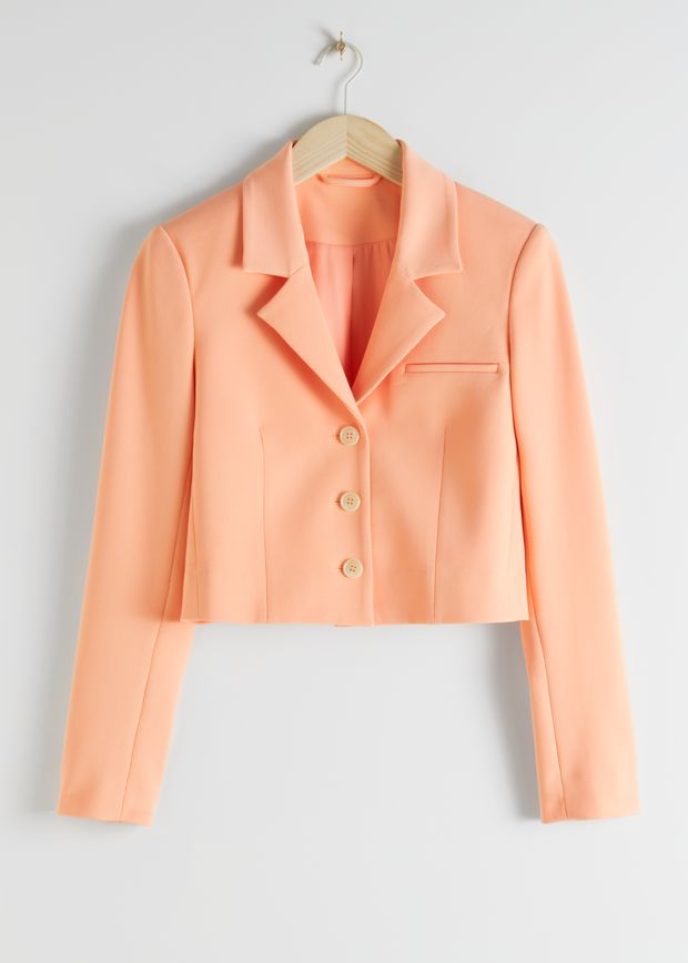 Cropped Tailored Blazer