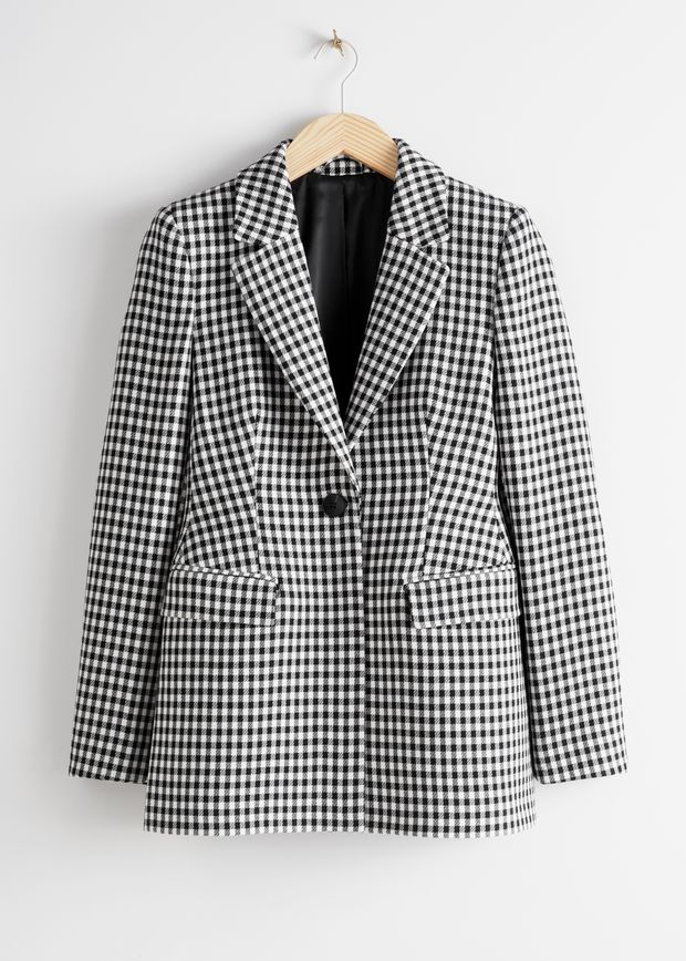 Tailored Gingham Blazer