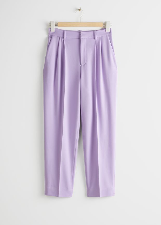 Duo Pleat Tailored Trousers